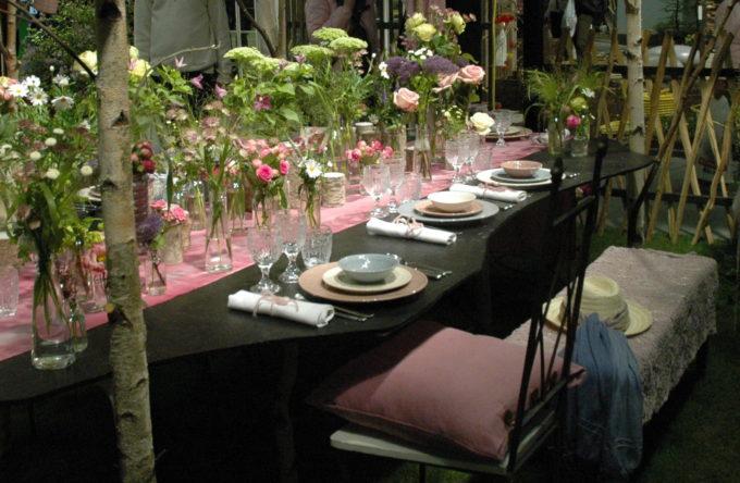 blommande bord